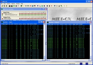 Midi Ox Main Screen