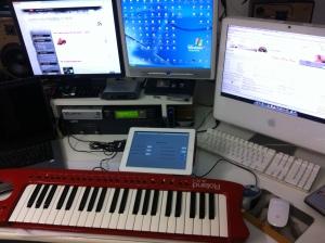 Setup di test nel mio studio personale